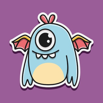 Kawaii gekritzel monster charakter illustration