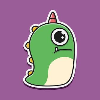Kawaii gekritzel monster charakter illustration