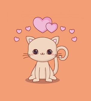 Kawaii katze und liebe