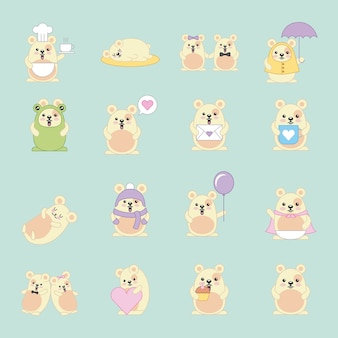 Kawaii mouses viele animal-cartoon