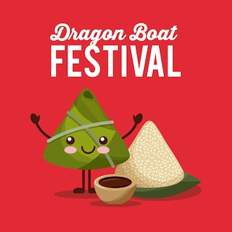 Kawaii reiskloß-dracheboots-festival-party