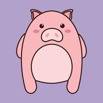 Kawaii schwein tier symbol