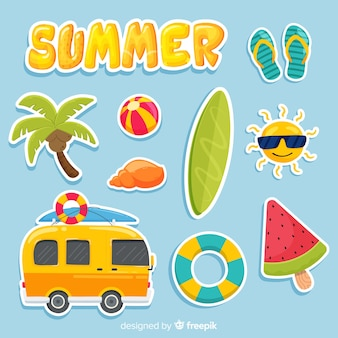 Kawaii sommer sticker kollektion