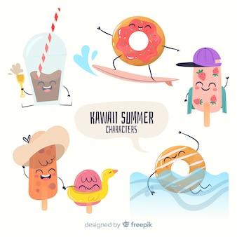 Kawaii sommer zeichen