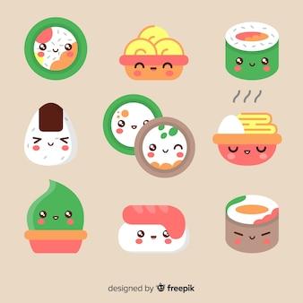 Kawaii sushi stück packung