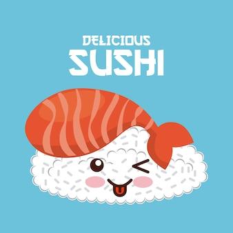 Kawaii sushi-symbol