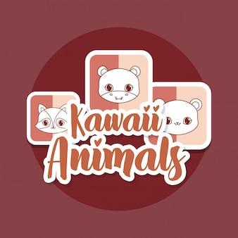 Kawaii tierkarte