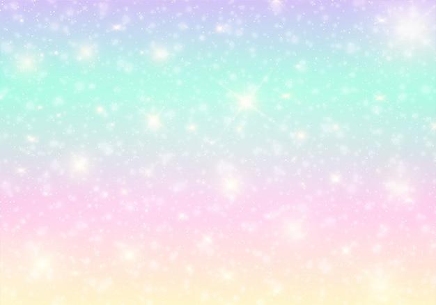 Kawaii universum banner in prinzessin farben.