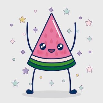 Kawaii wassermelone-symbol