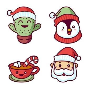 Kawaii weihnachtssammlung