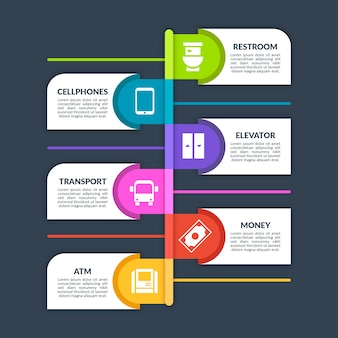 Keime hotspots infografik und textfelder
