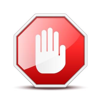 Kein eintrag handzeichen auf weiß isoliert