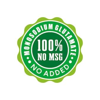 Kein msg-abzeichen-label-siegel-aufkleber-logo-design