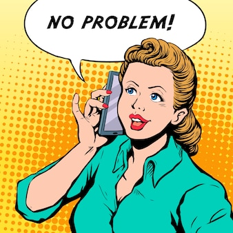 Kein problem pop-art-illustration