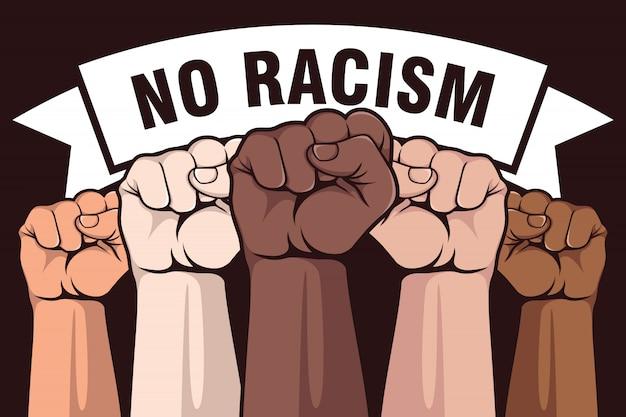 Kein rassismus poster design Premium Vektoren