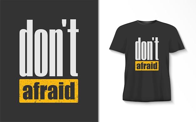 Keine angst vor typografie-t-shirt