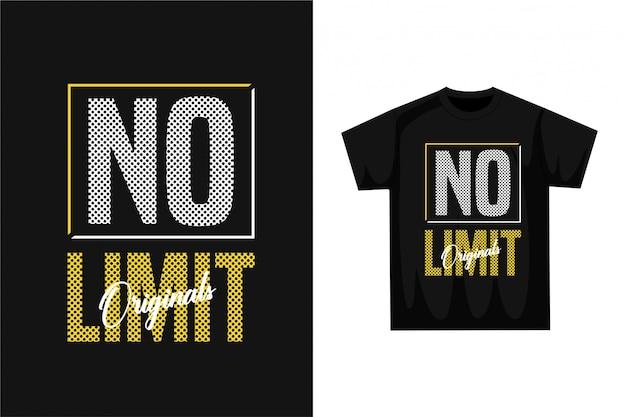 Keine begrenzung - grafisches t-shirt
