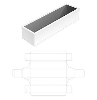 Keine leim lange tray box gestanzte vorlage