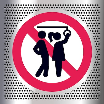Keine sexuellen übergriffe, verbotszeichen für öffentliche verkehrsmittel,