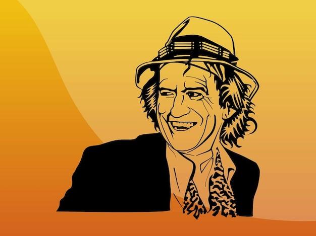 Keith richards glücklich musiker porträt