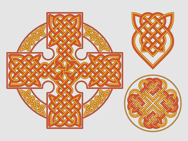 Keltenkreuz ethnische verzierung geometrischer t-shirt druck