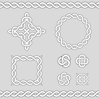 Keltische ornamentale designelemente