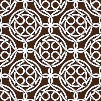 Keltischer knoten abstrakte nahtlose musterverzierung