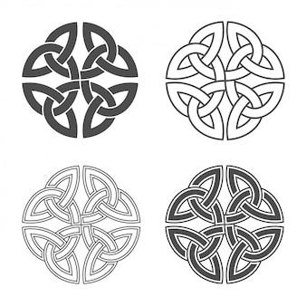 Keltischer knoten ethnische verzierung