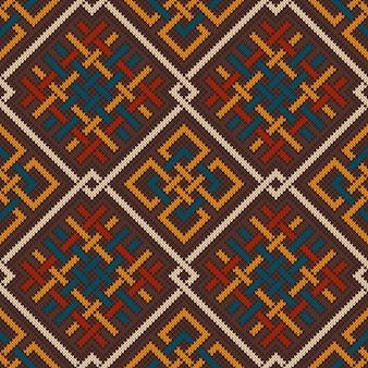 Keltisches plexus-entwurfsmuster. nahtloser hintergrund aus gestrickter wolle