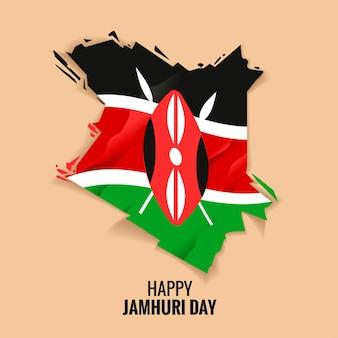 Kenia independence day oder happy jamhuri day konzept
