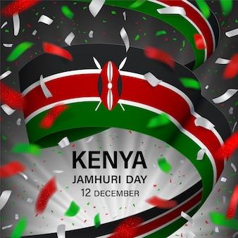 Kenia jamhuri day illustration.