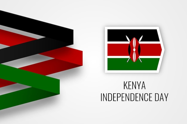 Kenia unabhängigkeitstag illustration