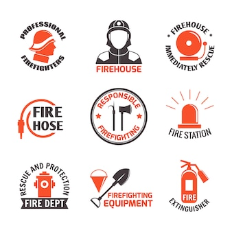 Kennsatzfamilie zur brandbekämpfung