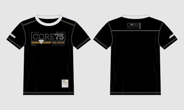 Kern denim typografie t-shirt moderner stil premium-vektor