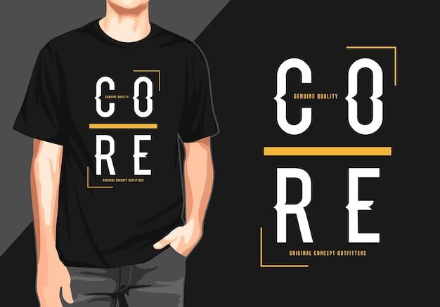Kerntypografie-t-shirt