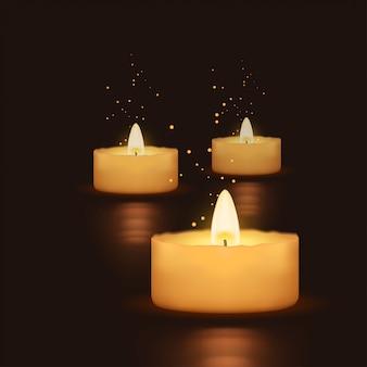 Kerze auf wasser