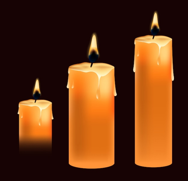 Kerze im realistischen stil