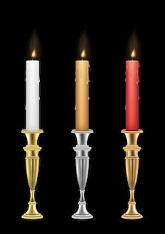Kerze mit kerze vintage-halter