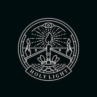 Kerzenlicht-logo-vorlage