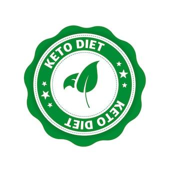 Keto-diät tolles design für jeden zweck food-logo paleo-diät gesundes ernährungskonzept