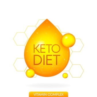 Keto-diät tolles design für jeden zweck lebensmittel-vitamin-logo paleo-diät gesundes ernährungskonzept