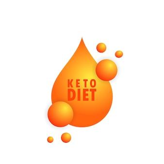 Keto-diät-zeichen. natürliches essen. gesundheitskonzept. vektor auf weißem hintergrund isoliert. eps 10.