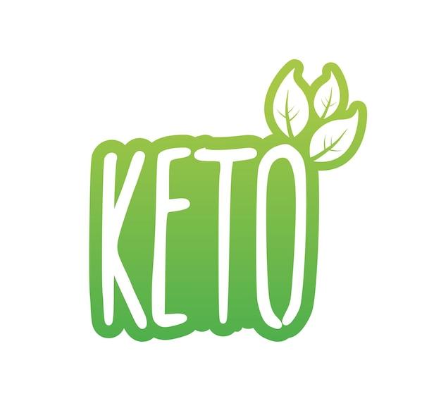 Ketogene diät-logo-zeichen. keto-diät. vektor-illustration