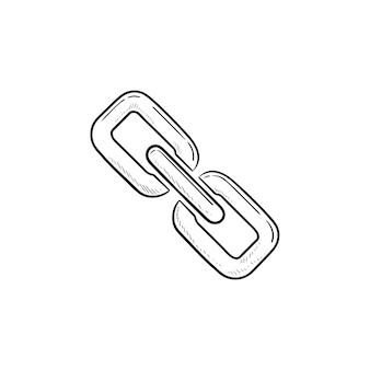 Kettenglied-symbol handgezeichnete umriss-doodle-symbol