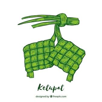 Ketupat-lebensmittelhintergrund