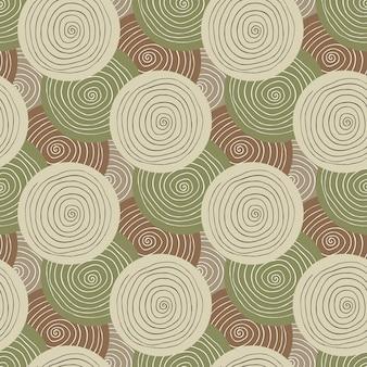 Khaki stoff textur. militärisches nahtloses muster der mode. textildesign. ethnischer hintergrund mit kreisen