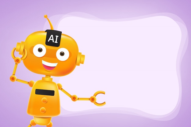 Ki-roboterkarikatur