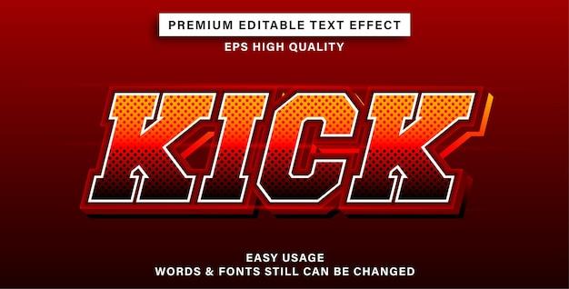 Kick bearbeitbaren texteffekt