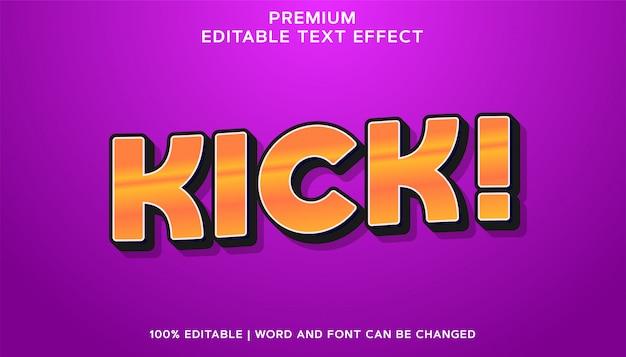 Kick - bearbeitbarer texteffektstil