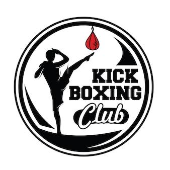 Kick boxing und kampfsport logo